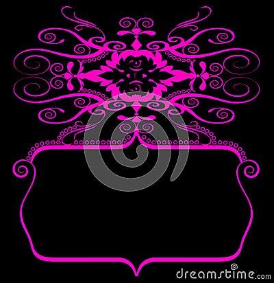 Pink black spiral banner