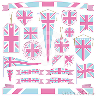 Pink and blue great britain