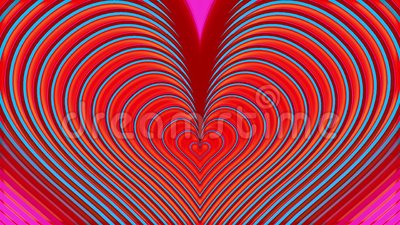 Pink and blue heart expand on glistening background stock video footage