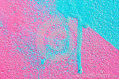 Pink and blue paint