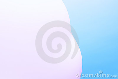 Pink blurred object on blue