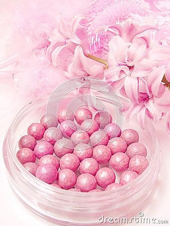 Pink blush in beads