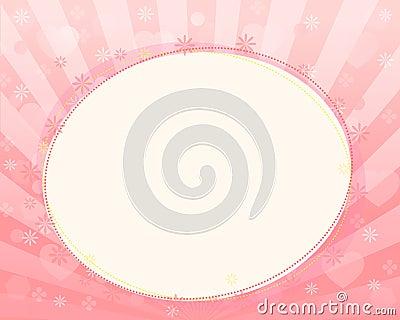 Pink border frame