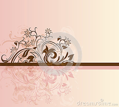 Pink and brown card