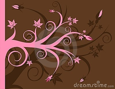 Pink and Brown Floral