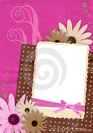 Pink and brown scrapbook page