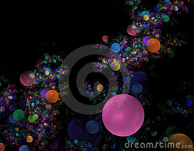 Pink bubble fractal background
