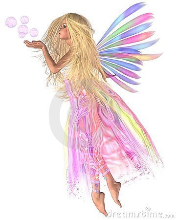 Free Pink Bubbles Fairy Stock Photos - 10360213