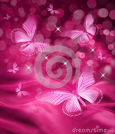 Free Pink Butterfly Background Royalty Free Stock Image - 24891326