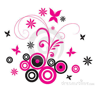 Pink Butterfly Flourish