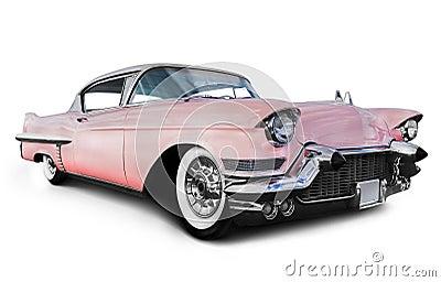Pink cadillac car