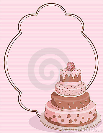 Pink Cake place card