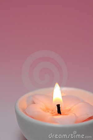 Pink Candle Royalty Free Stock Images - Image: 10757339