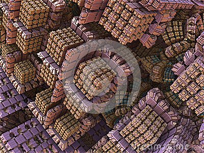 Pink Candy Boxes Abstract Fractal Design