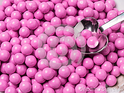 Pink Candy Covered Chocolates Stock Photos - Image: 24916173