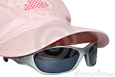 Pink Cap with Sunglasses