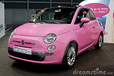 Pink Car Editorial Photography