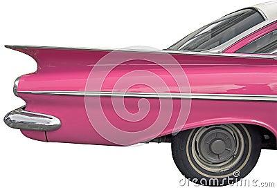 Pink car.