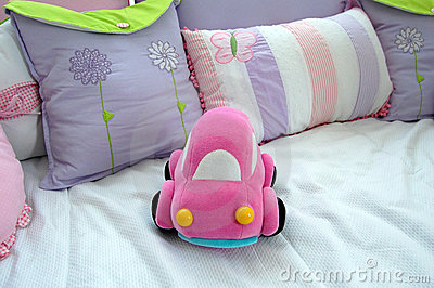 Pink car baby toy
