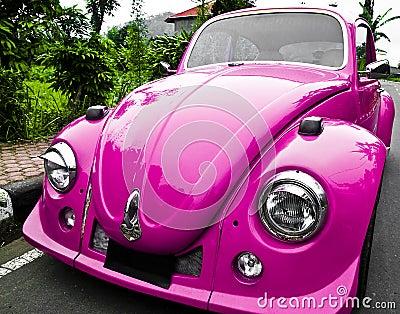 Pink car - beetle