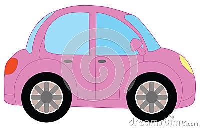 Pink car Vector Illustration