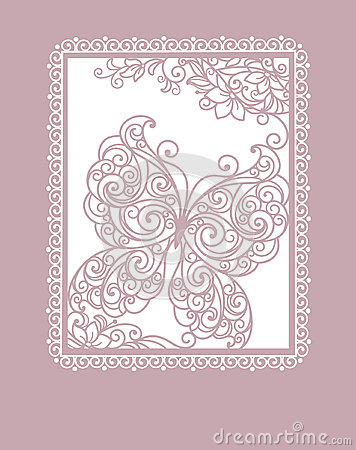 Card with stylization butterfly