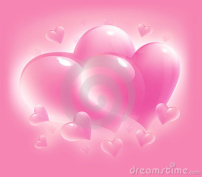 Pink card for valentine s day