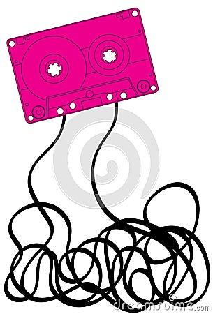 Pink cassette tape