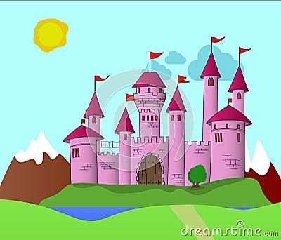 Fantasy Pink Castle