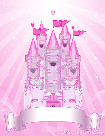 Free Pink Castle Place Card Royalty Free Stock Image - 25334006