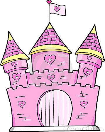 Free Pink Castle Vector Royalty Free Stock Images - 6858999