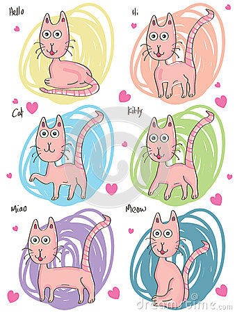 Pink Cat Set_eps