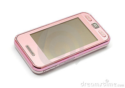 Pink cellphone