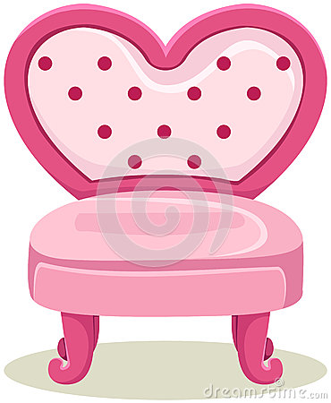 Pink chair stock vector image 46750330 for Cute white chair