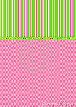 Pink Checks and Green Stripes Greeting Card