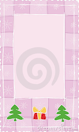 Pink Christmas banner