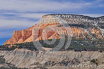 Pink Cliffs Stock Photo