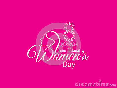 Pink Color Creative Background Design For Women's Day ...