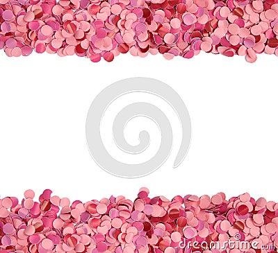 Pink confetti border