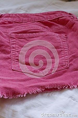 Pink Corduroy Shorts