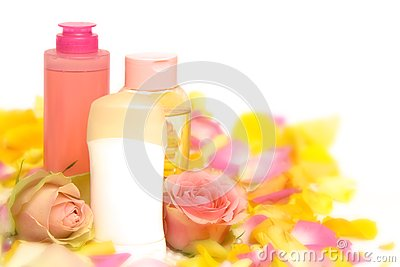 Pink cosmetics