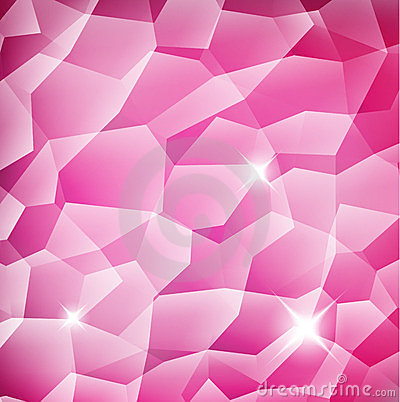 Pink Crystal structure background