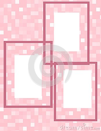 Pink Cubes Frame Collage