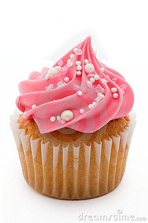 Free Pink Cupcake Royalty Free Stock Images - 10863679