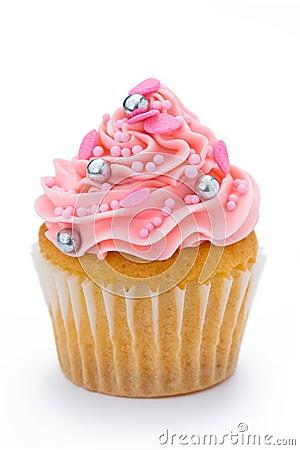 Free Pink Cupcake Royalty Free Stock Photos - 9712938