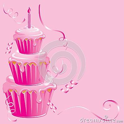 Pink Cupcake Birthday