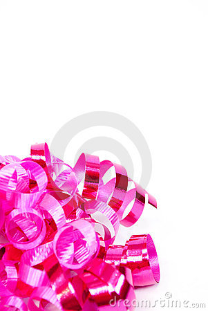 Pink Curled Ribbon, vertical
