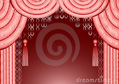 Pink Curtain Frame