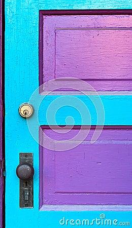 Pink & Cyan Door