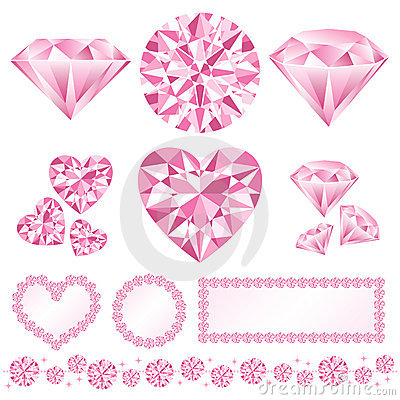 Free Pink Daiamond Royalty Free Stock Photos - 17346668